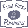 Farm Fresh Pumpkins stencil
