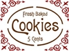 Fresh Baked Cookies stencil