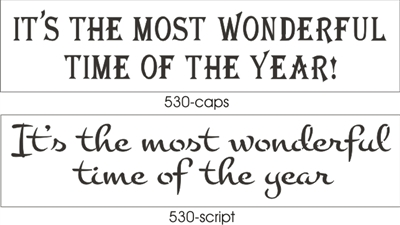 "It's The Most Wonderful Time Of The Year! 24 x 5.5"" Stencil Two Font Choices"