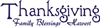 "Thanksgiving -Family Blessings Harvest 16 x 5.5"" stencil"