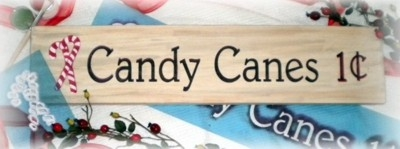 "Candy Canes 1C with graphic 24 x 5.5"" Stencil"