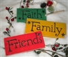 "Faith * Family * Friends 24 x 4"" Stencil in a fun font"