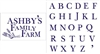 """Your Name"" Family Farm Stencil Set with alphabet to Personalize"