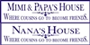 "Nana's (Nana & Papa's) (or MiMi & PaPa's) (Grammy's) House Where Cousins Go To Become Friends 24 x 6"" Stencil"