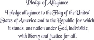 "The Pledge Of Allegiance 1.75"" Lettering 24 x 12"" Stencil"