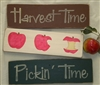 Harvest Time, Pickin' Time, Apples Three Stencil Set