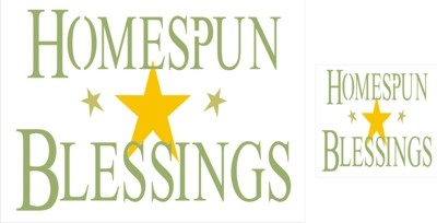 HOMESPUN BLESSINGS Two size choices