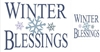 WINTER BLESSINGS Stencil Two Size Choices