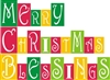 Merry Christmas Blessing Stencil Set