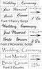 Wedding Signs Stencil Set Bride, Groom, I Do... Three Font Choices