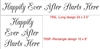 Happily Ever After Starts Here Two Size Choices