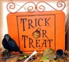 Trick Or Treat with Jack O Lantern Stencil Three Size Choices
