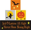 Jack O Lanterns, Witch, Bats Stacker Blocks Stencil Set