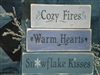 Cozy Fires, Warm Hearts, Snowflake Kisses Stencil Set