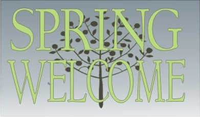 "Spring Welcome 17 x 10"" Stencil Set"