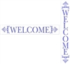 "WELCOME with flourishes 22 x 3.5"" Stencil Horizontal or Vertical"