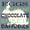 "Eggs Jelly Beans Chocolate Baskets Daffodils 5.5"" Stencil Set"