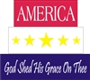 America God Shed His Grace On Thee shelf sitter stencil set