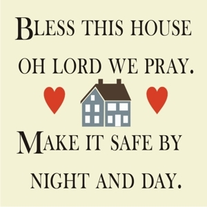 "Bless this house oh Lord we pray... 10 x 10"" stencil set"