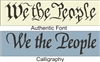 "We the People 22 x 5.5"" stencil two font choices"