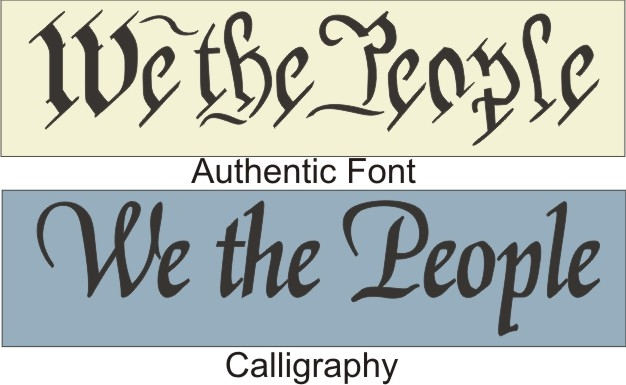 we the people 22 x 5 5 stencil two font choices
