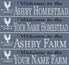 "Welcome to the ""Your Name"" Homestead or Farm Personalized Stencil"
