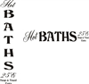 Hot Baths 25C Stencil Vertical or Horizontal Choice