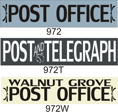 "Post Office or Post & Telegraph 24 x 5.5"" Stencil Three Design Choices"