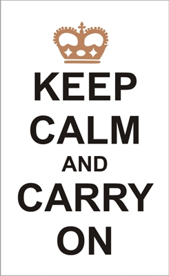 Keep Calm And Carry On Stencil Two Size Choices