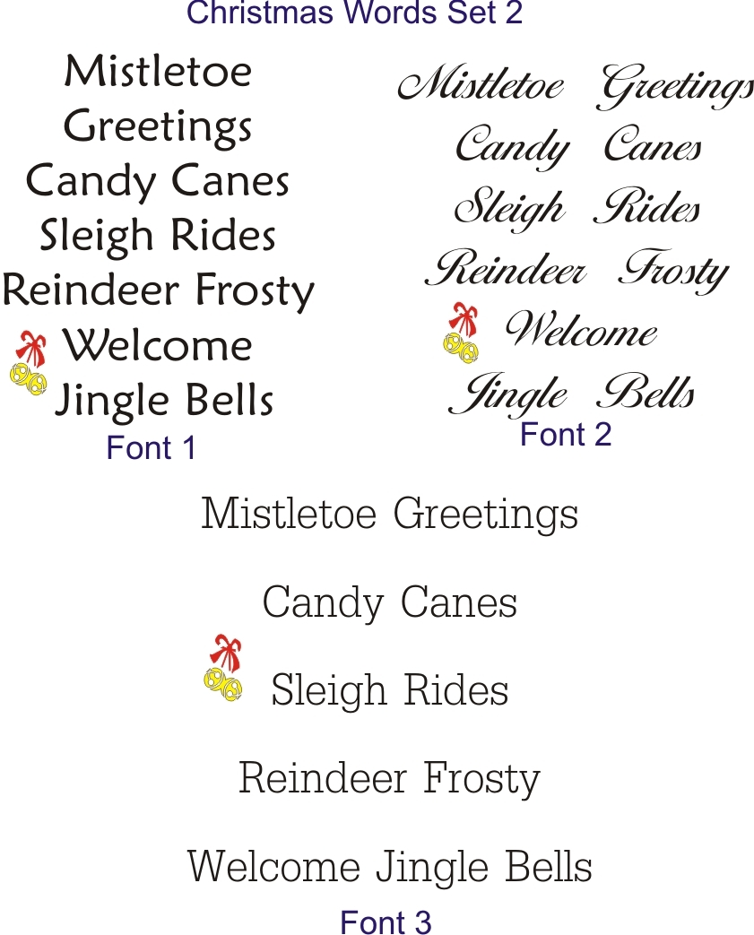 1 tall christmas words on a 12 x 12 stencil sheet set includes