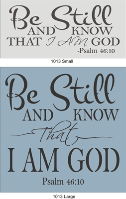 Be Still and Know That I am God Stencil Stencils