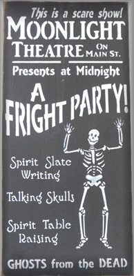 "Moonlight Theatre Fright Party 11.5 x 24"" Stencil"