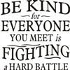 everyone you meet is fighting a hard battle