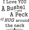 i love you a bushel and a peck stencil