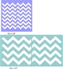 Chevron Pattern Stencil Two Size Choices