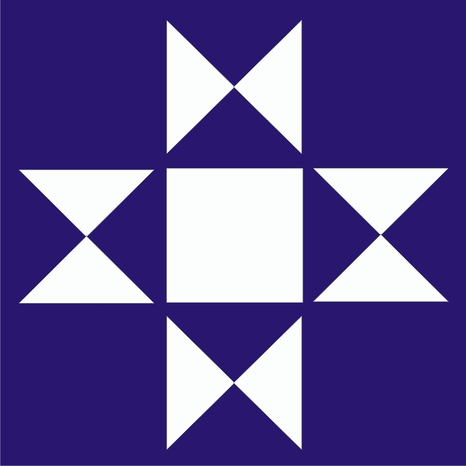 barn quilt star stencil two size choices