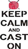 keep calm and cast on stencil