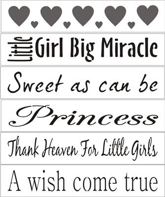 baby girl word set