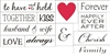 wedding words stencil set