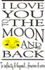 i love you to the moon and back stencil
