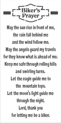 "Biker's Prayer 24 x 12"" Stencil"