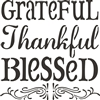 grateful thankful blessed stencil