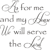 i will serve the lord stencil