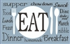 "EAT with dinner plate graphic 16 x 10"" stencil set"