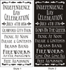 "Independence Day Celebration July 4th... Parade & Contests Brass Band Fireworks... 11.5 x 24"" Stencil Two Style Choices"