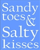 "Sandy Toes & Salty Kisses 11.5 x 14.5"" Stencil"