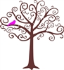 Whimsical Tree Graphic Stencil Two Size Choices