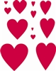 "Hearts assorted sizes Regular and Prim 10 x 11.5"" Stencil"