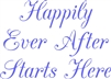 "Happily Ever After Starts Here 8 x 6"" Stencil"