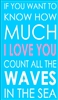 "IF YOU WANT TO KNOW HOW MUCH I LOVE YOU COUNT ALL THE WAVES IN THE SEA 11.5 x 20"" Stencil"